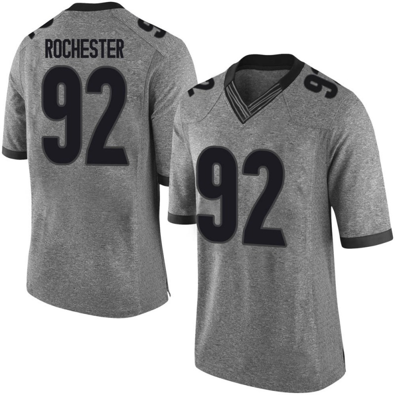 Limited Youth Julian Rochester Georgia Bulldogs Gray Football College Jersey