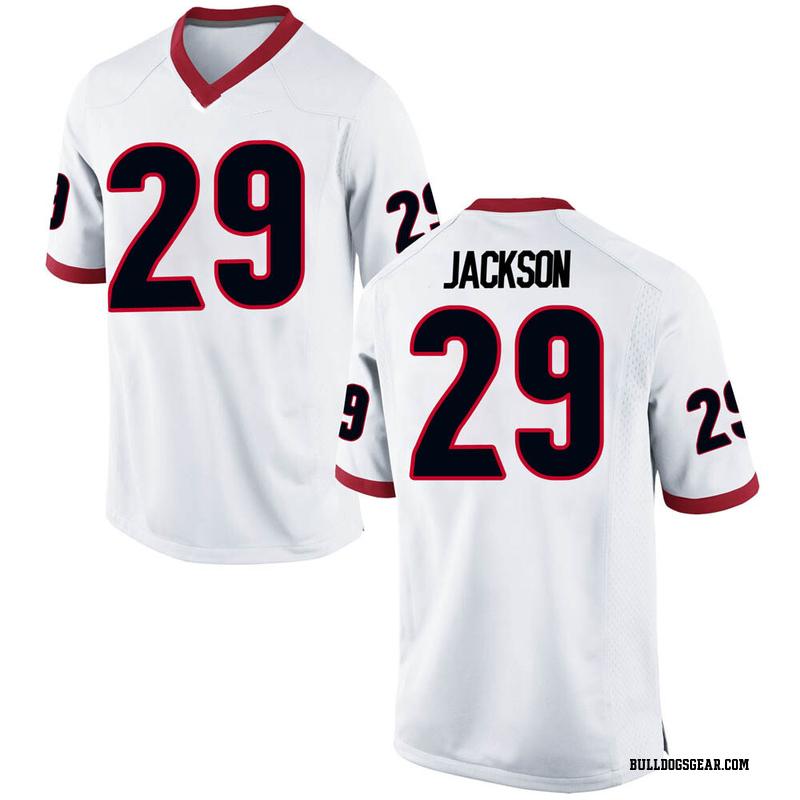 Replica Men's Darius Jackson Georgia Bulldogs White Football College Jersey