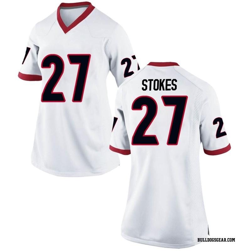 Brooks Buce Georgia Bulldogs Football Jersey White